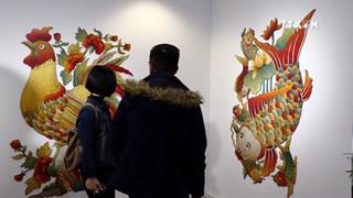When folk paintings and modern art technique meet