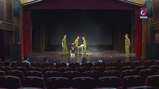 Theatre stage lights up again