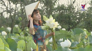 Hanoians enchanted by white lotus flowers