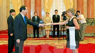 President Tran Dai Quang receives new Spanish, Yemen ambassadors