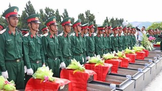 Memorial, reburial services held for fallen soldiers