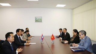 NA Vice Chairwoman meets Lao counterpart on IPU-141 sidelines