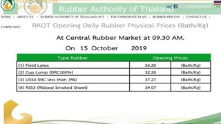 Thailand earmarks over 24 bln baht in subsidiaries for rubber farmers