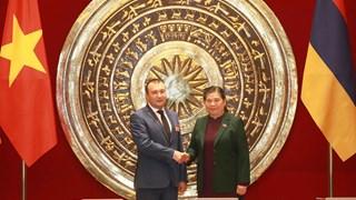Legislative leaders of Vietnam, Armenia vow to boost cooperation