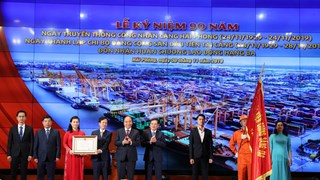 Hai Phong Port's workers honoured with Labour Order