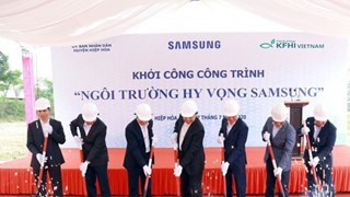 Samsung Vietnam-funded hope school to benefit Bac Giang's needy students