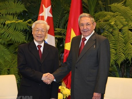 Party chief Nguyen Phu Trong gets warm welcome on Cuba tour