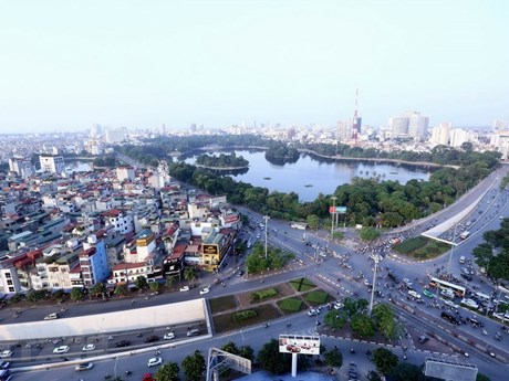 A bird's eye view of Hanoi 64 years after liberation