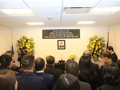 Vietnam's mission to UN opens funeral book for President Tran Dai Quan