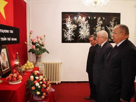 Foreign officials, diplomats in Africa pay tribute to President Quang