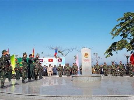 Vietnam-Laos-Cambodia border friendship exchange held
