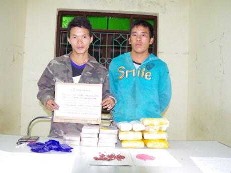 Lao drug traffickers arrested in Dien Bien