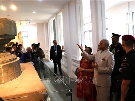 Indian President visits Da Nang Museum of Cham Sculpture, My Son Sanct
