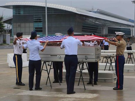 Missing-in-action US servicemen's remains repatriated