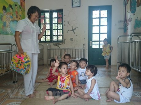 Alternative care given to orphaned children in Thai Nguyen