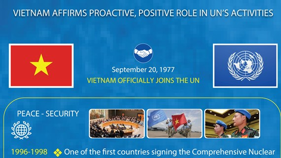 Vietnam affirms proactive, positive role in UN's activities