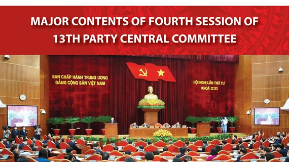 Major contents of fourth session of 13th Party Central Committee