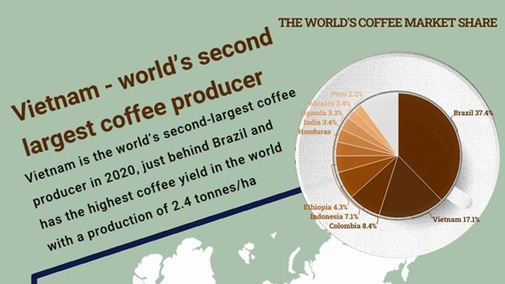 (Interactive) Vietnam - world's second largest coffee producer