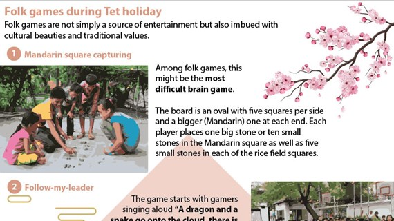 Folk games during Tet holiday
