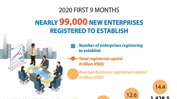 Nearly 99,000 businesses established in nine months