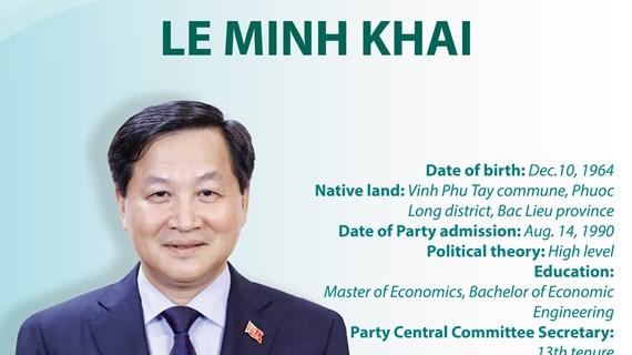 Deputy Prime Minister Le Minh Khai