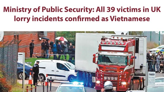 All 39 victims in UK lorry incidents confirmed as Vietnamese