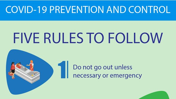 COVID-19 prevention and control: five rules to follow