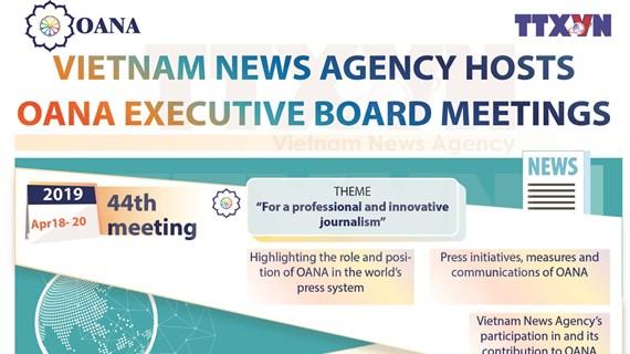 Vietnam News Agency hosts OANA Executive Board meetings