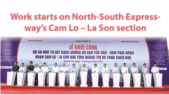 Work starts on North-South Expressway's Cam Lo – La Son section