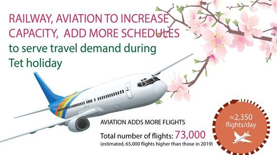 Railway, aviation to increase capacity to serve Tet
