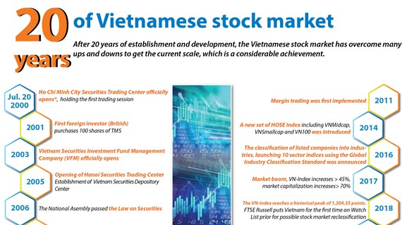 20 years of Vietnamese stock market