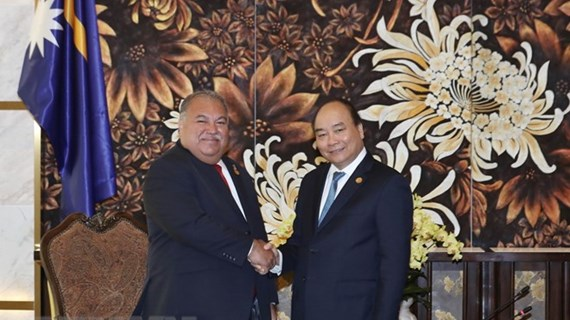 PM meets Presidents of Nauru, Marshall, Guyana on GEF-6 sidelines