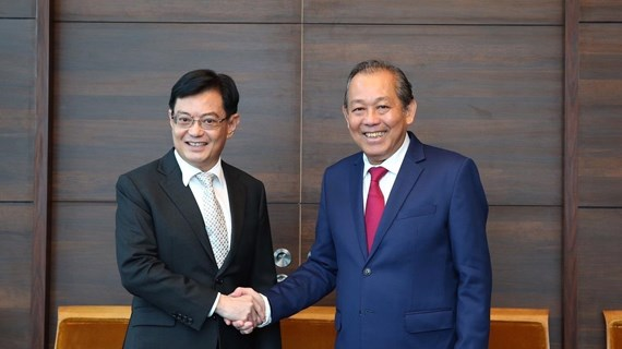 Deputy PM Truong Hoa Binh pays official visit to Singapore