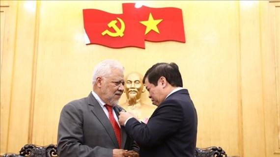 Venezuelan ambassador honoured with academy's insignia