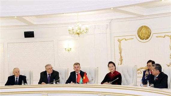 NA Chairwoman meets with leaders of Communist Party of Belarus