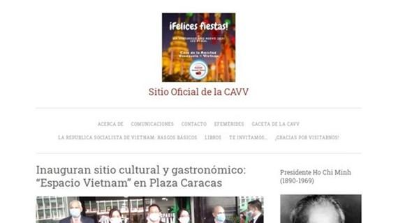 Venezuela – Vietnam Friendship Association's e-portal makes debut