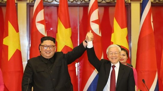Top leader congratulates newly-elected General Secretary of Workers' Party of Korea