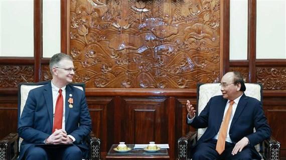 State President hosts outgoing US Ambassador