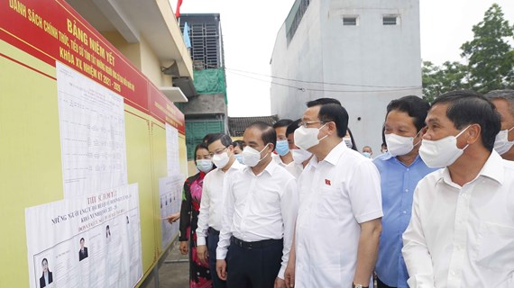 NA leader checks election preparations in Tuyen Quang province