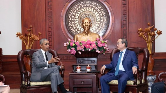 HCM City's Party leader receives former US President