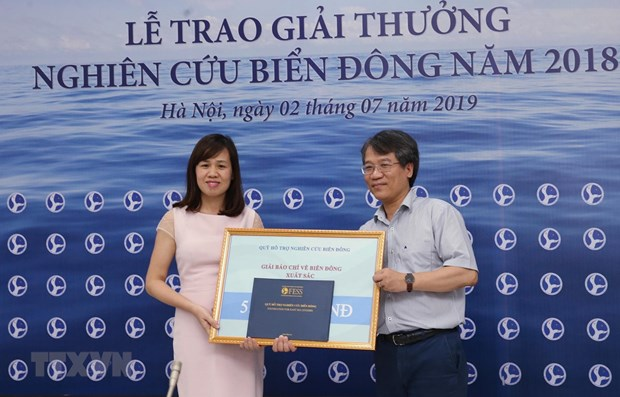 Two entries of VNA win East Sea Studies Awards 2018 hinh anh 1