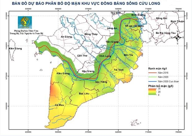 Saltwater intrusion in Mekong Delta projected to increase hinh anh 1