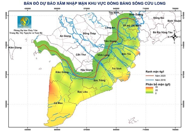 Saltwater intrusion in Mekong Delta to abate but concerns remain hinh anh 1