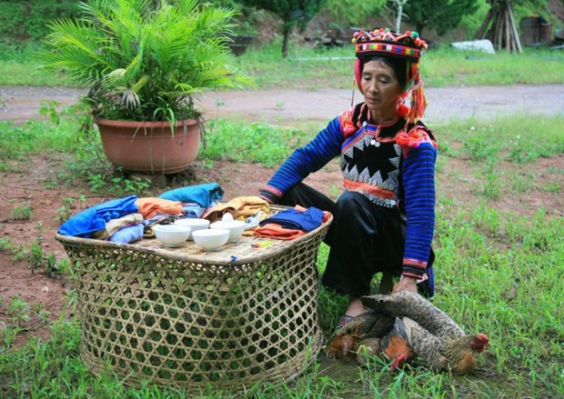 Unique rainy season festival of Ha Nhi ethnic people hinh anh 1