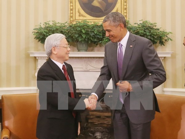 Party chief's US visit opens up new chapter in Vietnam-US ties hinh anh 1