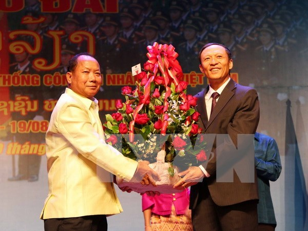 Vietnam People's Public Security anniversary marked in Laos hinh anh 1
