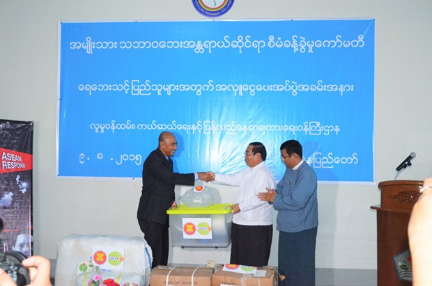 ASEAN supports flood victims in Myanmar hinh anh 1