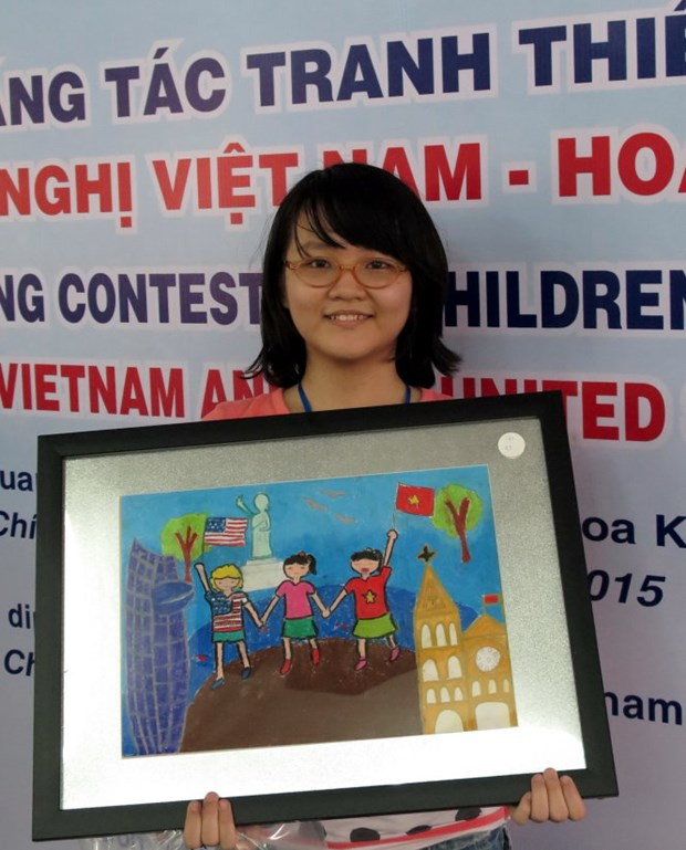Children's painting contest highlights Vietnam-US friendship hinh anh 1