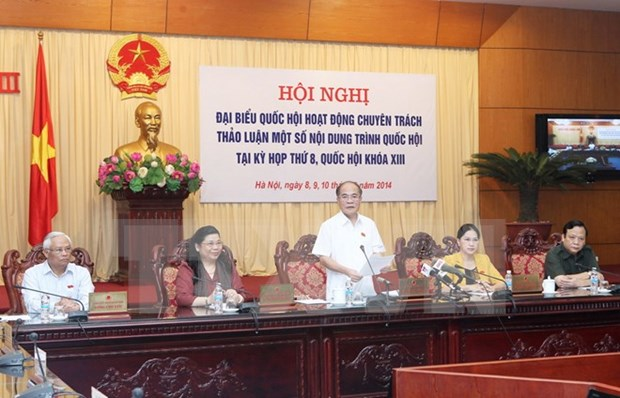 National Assembly's conference discusses draft laws hinh anh 1