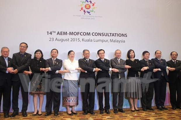 ASEAN Economic Ministers hold consultations with dialogue partners hinh anh 1
